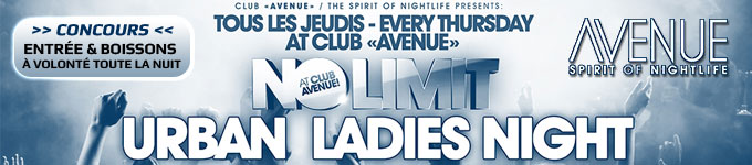 URBAN LADIES NIGHT - NO LIMIT | Avenue - 30/05/2013