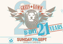 GREEN KOMM BIRTHDAY SPECIAL FOR 21 YEARS - 07/09/2014