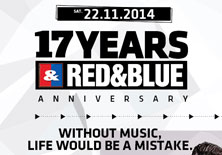 RED & BLUE GAYCLUB 17TH ANNIVERSARY | Red & Blue - 22/11/2014