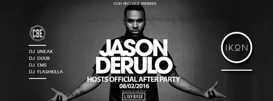 JASON DERULO hosts Official Afterparty | IKON - 08/02/2016