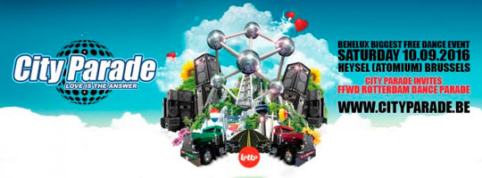City Parade 2016 ' Love is the answer ' - ATOMIUM Brussels | Hall 05 Brussels Expo - 10/09/2016