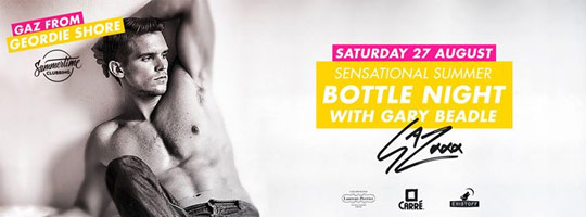 SENsational Summer Bottle Night with GAZ | Carré - 27/08/2016