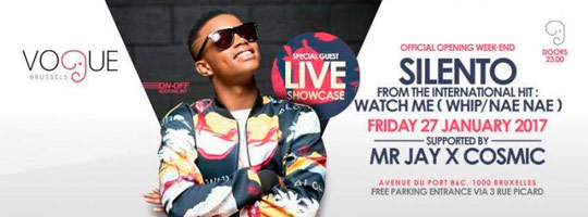Vogue Brussels presents Silento | Club Vogue - 27/01/2017