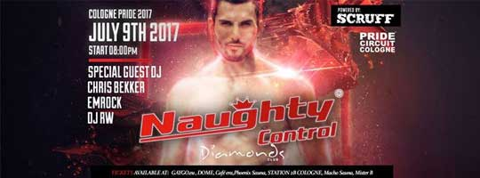 Naughtycontrol Powered by Scruff Official Pride Circuit Closing | DIAMONDS - 09/07/2017