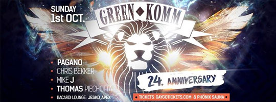 GREEN KOMM 24th B-Day Party | Nachtflug - 01/10/2017